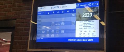 Installations d'écrans à l'école L'envol de la Fédération Wallonie Bruxelles (Flémalle) - Expansion TV