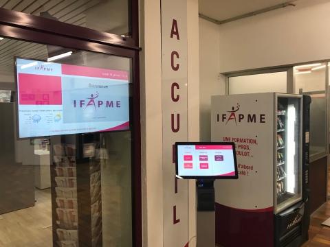 Système de gestion de files d'attente au sein du centre de formation IFAPME - Expansion TV