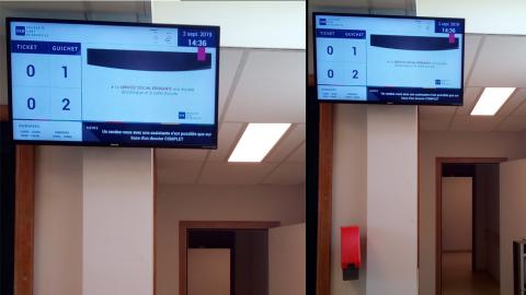 Un système de gestion de file d'attente avec écran d'appel et distributeur de tickets à l'Université Libre de Bruxelles par ExpansionTV - Expansion TV