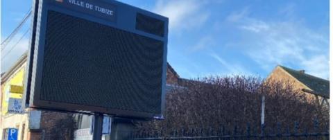 Ecran d'affichage outdoor au coeur de la Ville de Tubize - Expansion TV