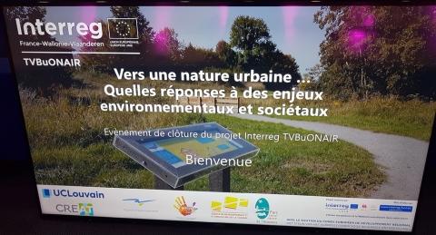 Trame verte et bleue en milieu urbanisé : retour multi-média sur le séminaire de clôture du projet Interreg Va TVBuONAIR - Espace Environnement