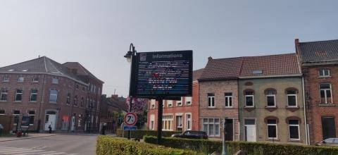 Un panneau led Outdoor pour la commune de Rebecq - Expansion TV