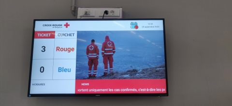 Un système de gestion de files d'attente simplifié pour le centre Croix-Rouge de Tournai - Expansion TV