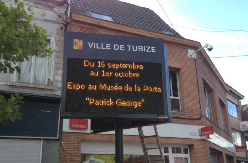 Ecran led outdoor pour informer la population de la Ville de Tubize