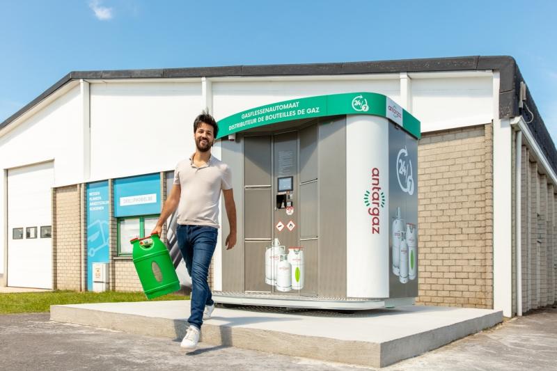 Distributeur automatique de bouteilles de gaz